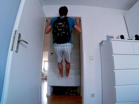 Obere Rückenmuskulatur trainieren - Klimmzüge