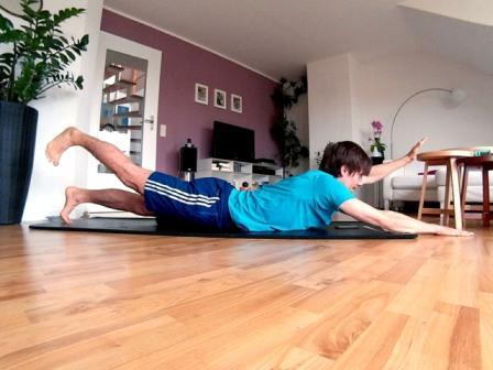 Core Training der Schwimmer