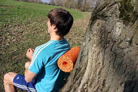 verklebte Faszien lösen mit Blackroll Orange